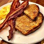 Scramble eggs and bacon