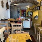 The cosy Fuori Menu cafe in Genova