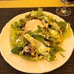 Salade verte à l'entrée