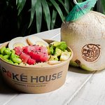 Fresh coconuts also available to add to your Poke Bowl lunch or dinner