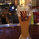 Their Hefeweizen goes well on a hot summer day.