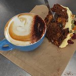 Cappuccino + Home-Baked Carrot Cake