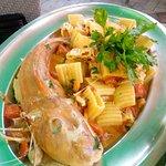 Paccheri al coccio (o gallinella di mare), un piatto semplicemente maestoso.