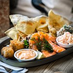 One of the fabulous platters on offer - great for sharing or just to enjoy to yourself!
