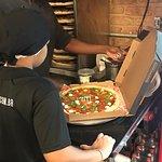 A pizza so tem beleza,mas nada de qualidade.....