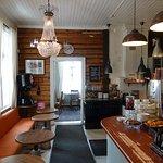The interior of Kahvila Oskari is idyllic