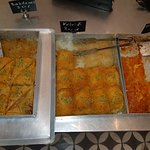 Delicious baklava and orange cake. Excellent service and staff!