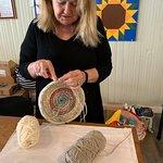 Artisan making a basket