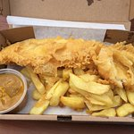 Fish, Chips and Curry Sauce