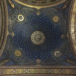 Ceiling showing stars and olive trees