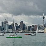 Four season in day Auckland City Private Tour go sailing on a real America's Cup boat ©ChauffeuredToursnz North Island New Zealand tour