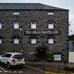 The entrance to the distillery visitor center