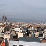 Hotel roof top view -  Sagrada Familia in the distance