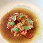 Shrimp based second course