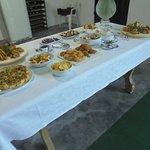 table d'hôtes : les entrées….. délicieux !!