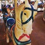 I rode this lovely horse on the Bushnell Park Carousel.