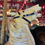 Hand-carved carousel horses.  True works of art.
