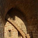 Auf der Stadtmauer beim Turm