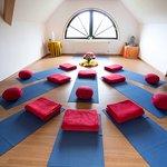 Tagungsraum Ausblick (hier als Yogaraum genutzt)