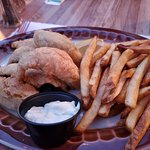 Perch Plate with French Fries