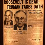 Newspaper article about President Roosevelt's death