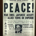Newspaper article about the end of WWII