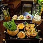 Bánh khọt (appetizer) & Saigon kumquat (drink)