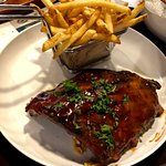 Rack of ribs and fries