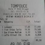 Foto van Brasserie Tompouce Brugge
