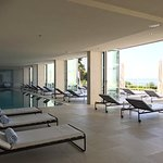 Indoor pool looking out.