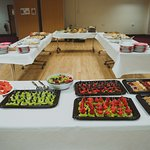 cake and fruit selection for outside catering we do
