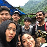 A group selfie once we arrived at Kyumi Village on day nine. Happy us happy Krishna
