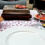 "Argentinean sirloin steak ""on a stone"""