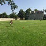 Kubb on the lawn