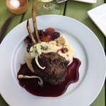 Rack of Lamb with Cheesy Grits and Fennel