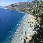 Vue sur la plage de Nonza