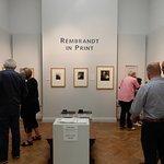 Visitors viewing Rembrandt Artwork.