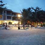 welcome to am pai cafe nice beach swimming pool and the bar on the beach
