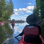 This is the mouth of Tischer Creek in Duluth. We eased the boats over the stones and into big, blue Lake Superior.  The day was perfect.  Daytripper will give you the skills and confidence to spend more time on the water.