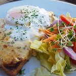 Welsh rarebit & egg