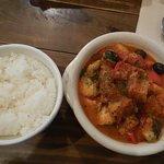 ポテトとタラのトマト煮