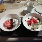 Dessert: Limetten Panna Cotta
