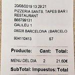 Menú  diario 10,80€.