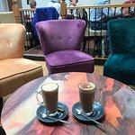 Multi colour chairs with Coffee