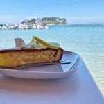 Lemon pie by the sea.