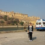 Guest From Italy at Amber Fort,