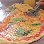 Rustic pizza marguerita