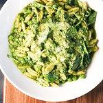 Spring pea Cavatelli pasta with green peas and pesto