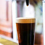 Left Hand Milk Stout--one of our many local draft beer options