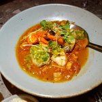 Spiced seafood stew - lobster, cod with sofrito.  Very tasty with strong seafood flavor.